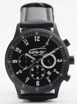 'MX-5 since 1989' Chronograph matt black