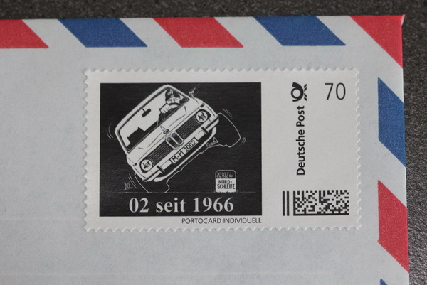 """02 seit 1966"" Limited Edition Briefmarke"