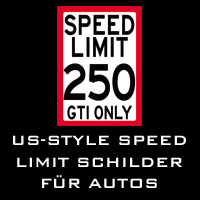 US-Style SPEED LIMIT Schilder für Autos