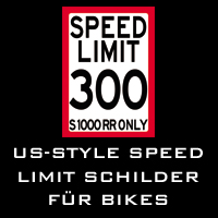 US-Style SPEED LIMIT Schilder für Bikes